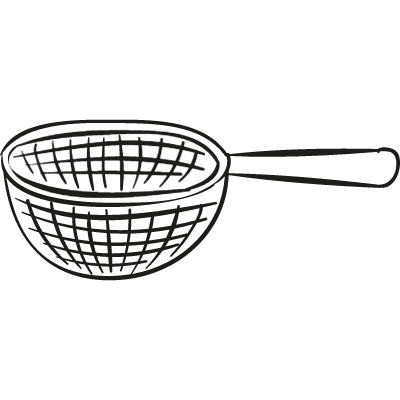 Strainer with handle vector logo