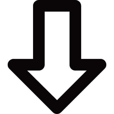 Down outlined arrow logo