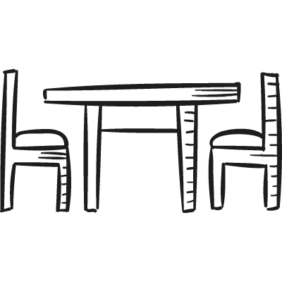 Table and Chairs logo