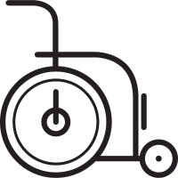 Wheelchair facing Right vector