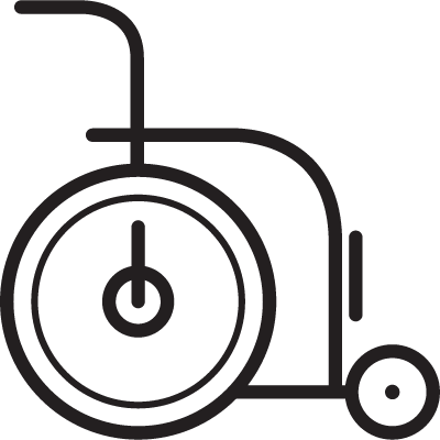 Wheelchair facing Right logo