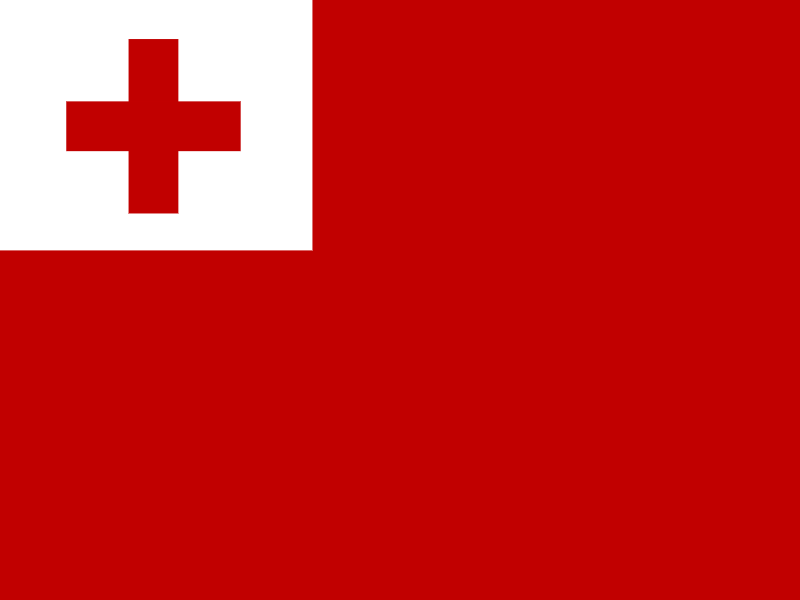 Flag of Tonga vector