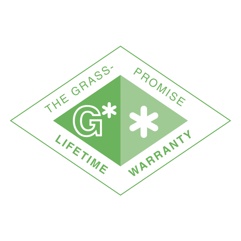 Grass Promise Lifetime Warranty vector