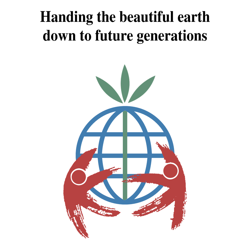 Handing the beautiful earth vector