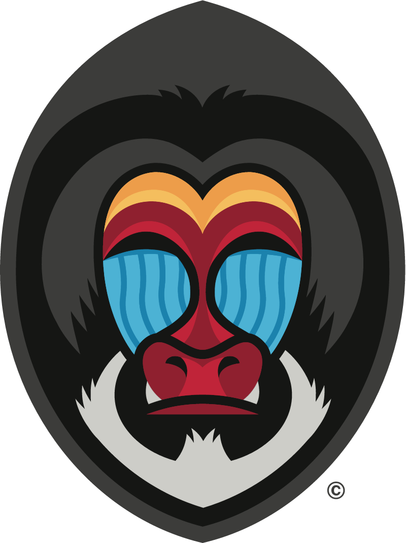 Mandrill Shield vector