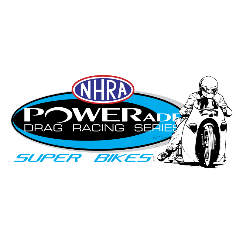 NHRA Powerade Super Bikes logo