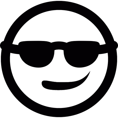 Smiley with sunglasses logo