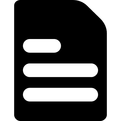 Text black file logo