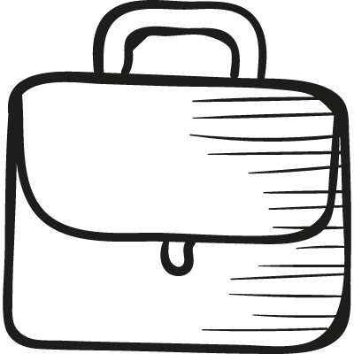 Briefcarrier with handle logo