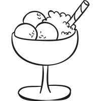 Ice Cream Balls Cup vector