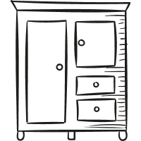 Closet with Drawers vector