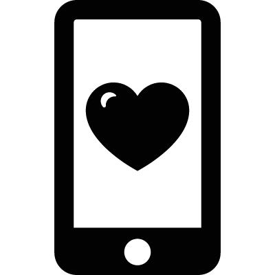 Phone with Heart logo