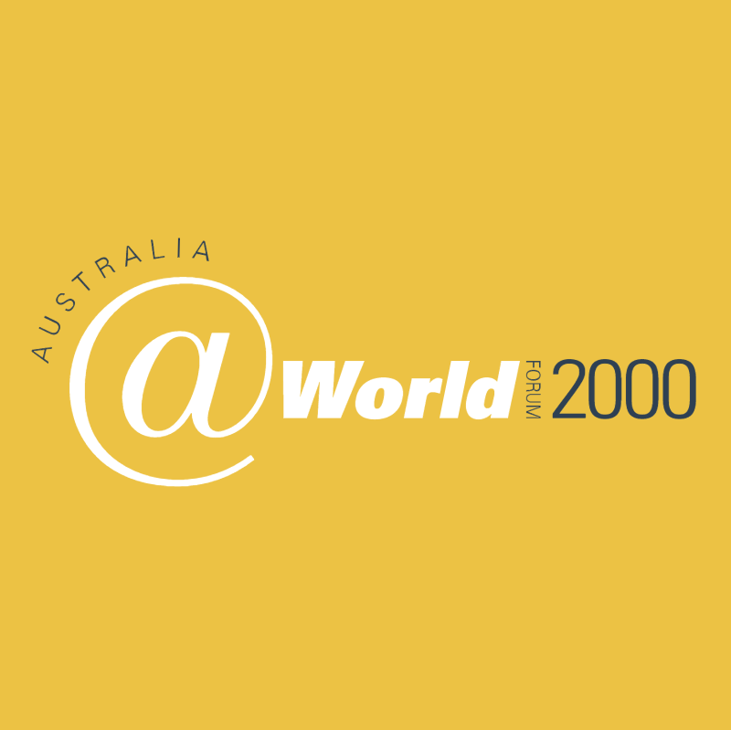 Australia World vector logo