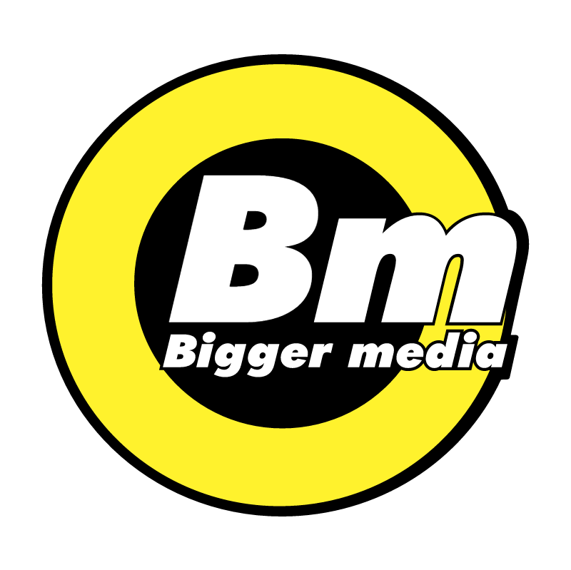 Bigger media 52462 vector logo