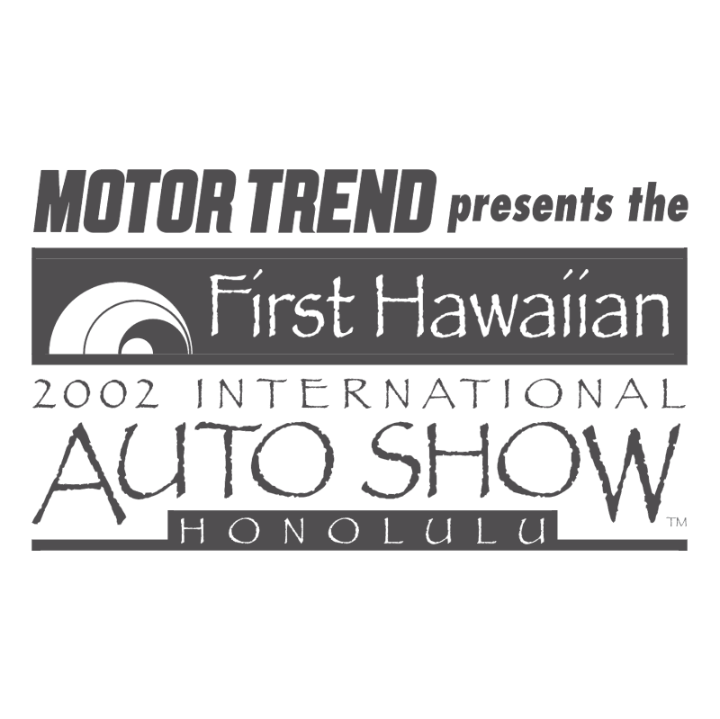 First Hawaiian International Auto Show vector