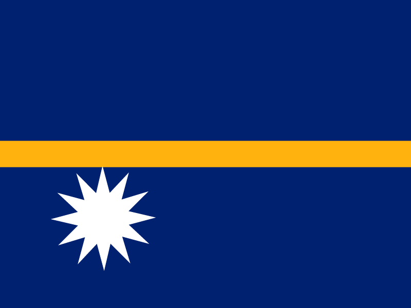 Flag of Nauru vector logo