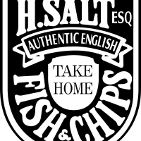 H Salt Fish & Chips vector