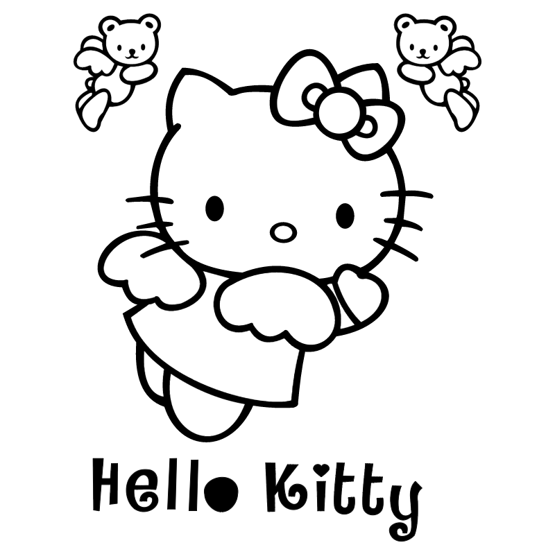 Hello Kitty 2 vector logo