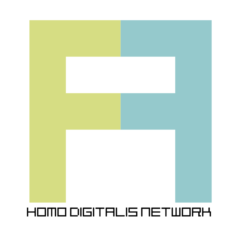 homo digitalis network vector logo