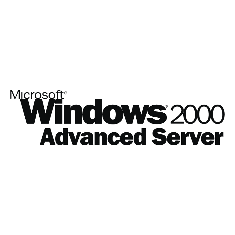 Microsoft Windows 2000 Advanced Server vector