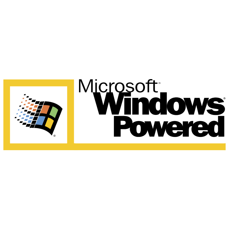 Microsoft Windows Powered vector