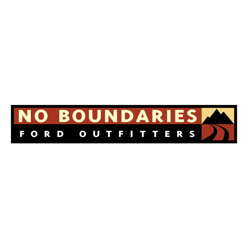 No Boundaries Ford Outfitters vector