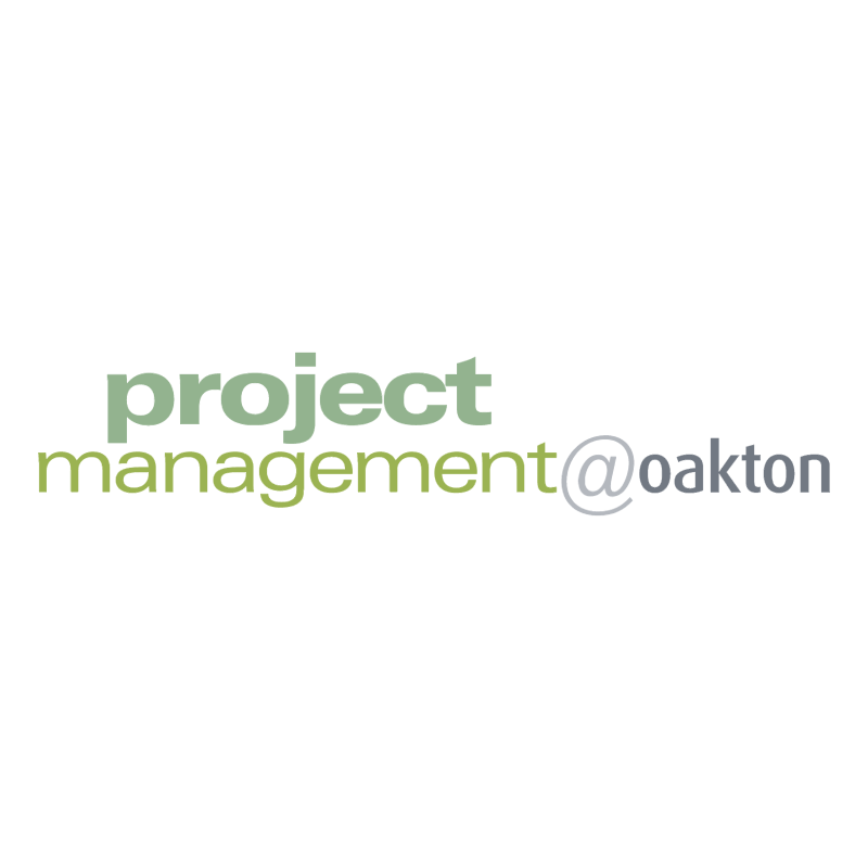 Project Management oakton vector