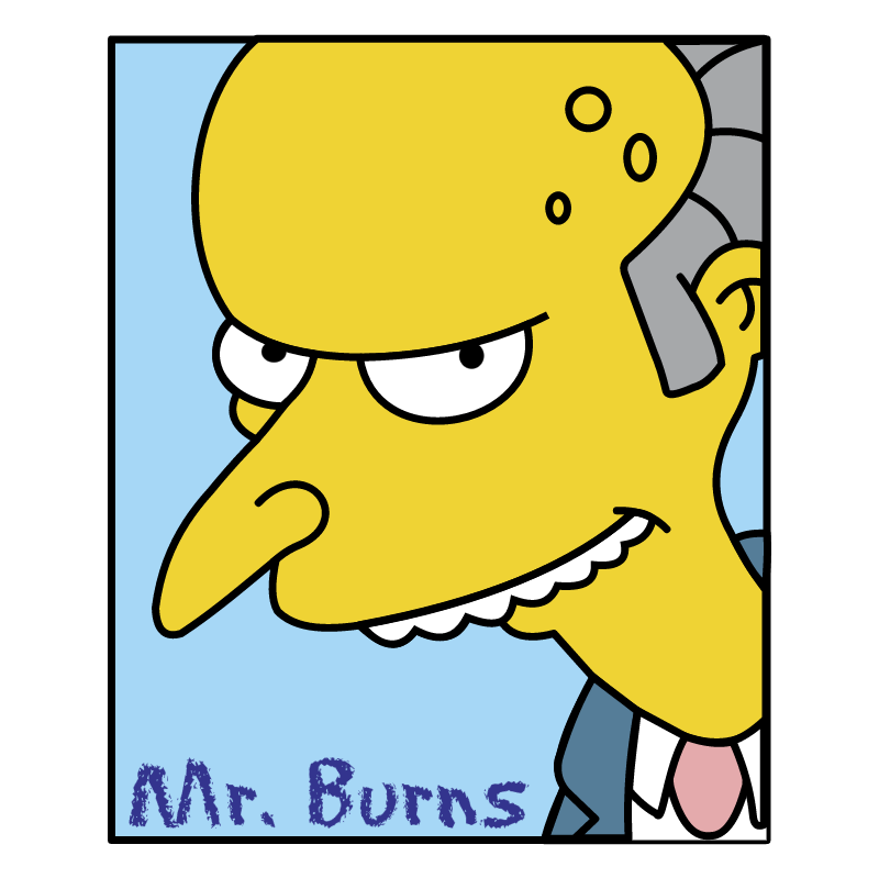 Simpsons Mr Burns vector