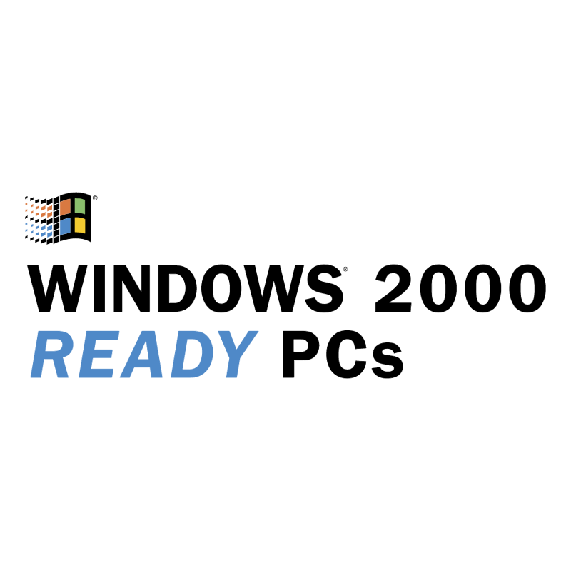 Windows 2000 Ready PCs vector logo