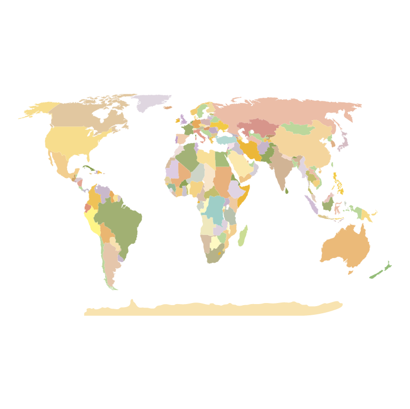 World map vector logo