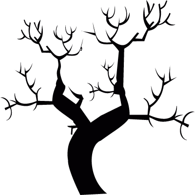 Leafless tree logo