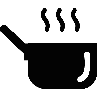 Hot kitchen pot logo