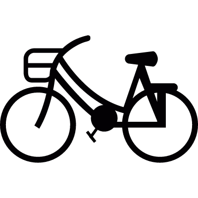 Bike with front basket vector logo