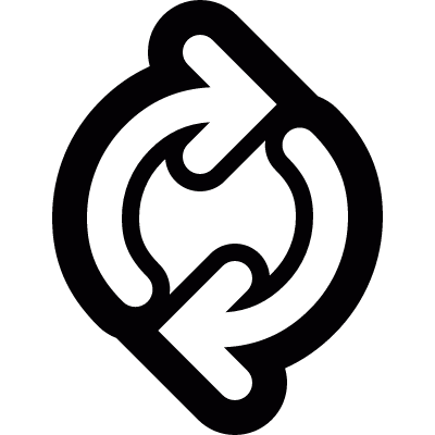Spinning arrows logo