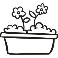 Flowers Gardening Pot vector