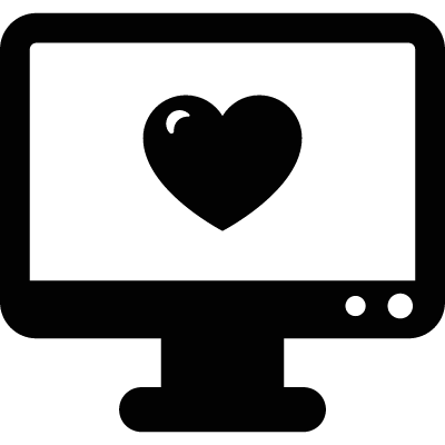 Computer Monitor with Heart logo