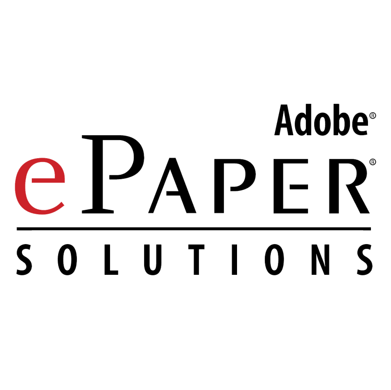 Adobe ePaper Solutions vector logo