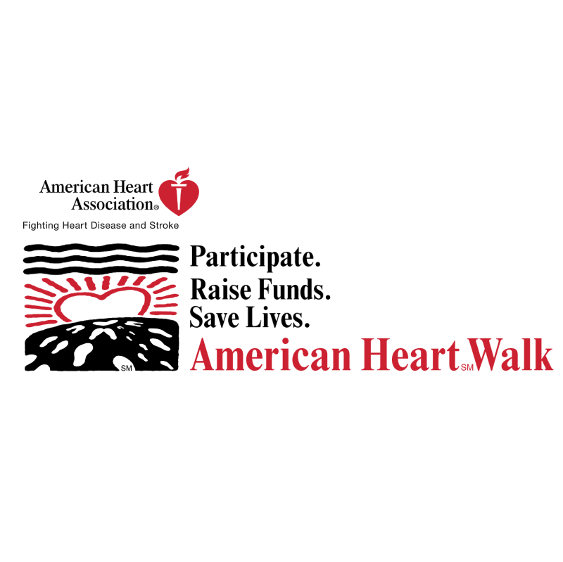 American Heart Walk vector logo