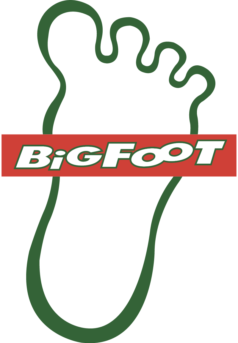 Big Foot Gasoline vector logo