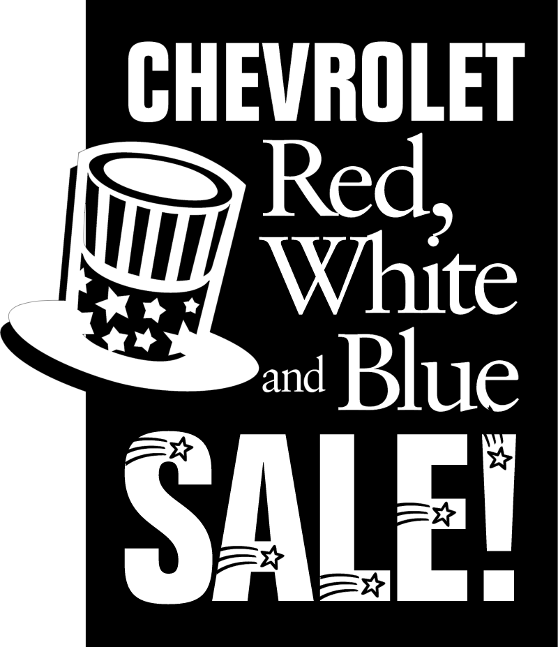 Chevrolet Red White Blue vector