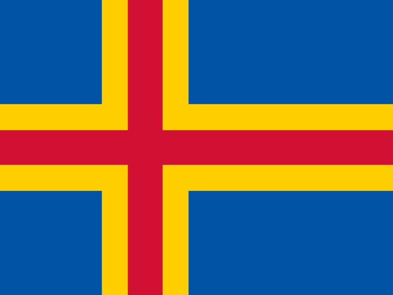 Flag of Aland Islands vector logo