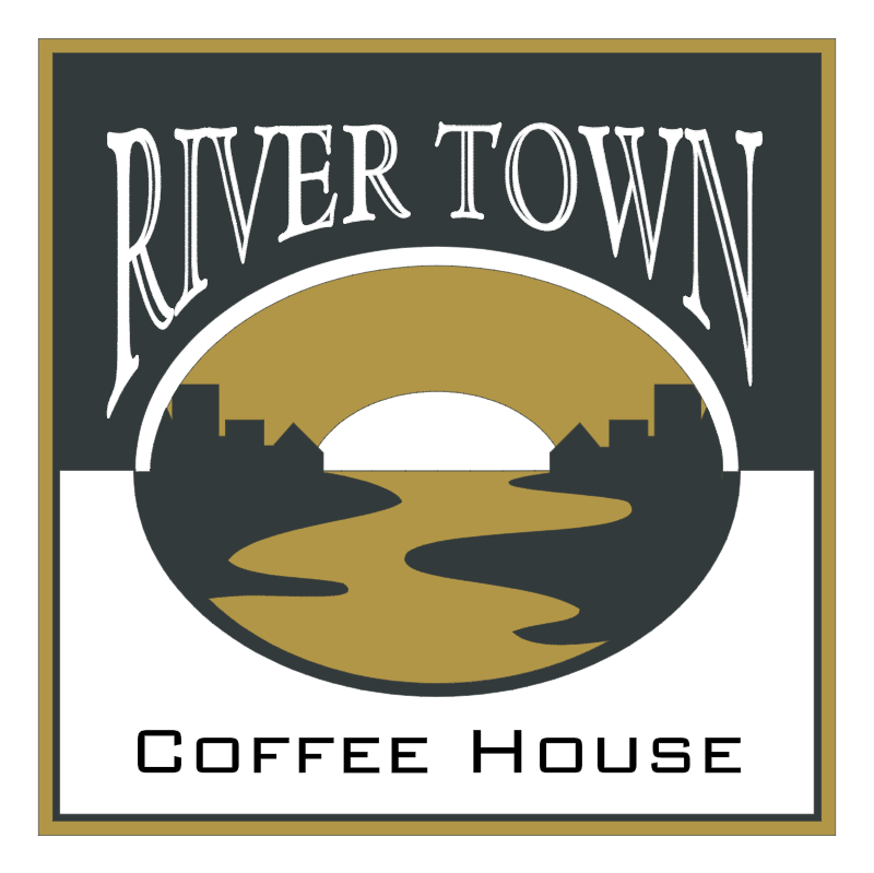 River Town Coffee House vector logo