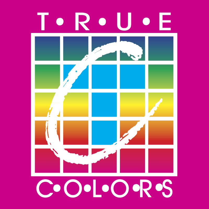 True Colors vector logo