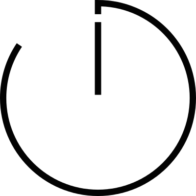 Clock thin outline logo