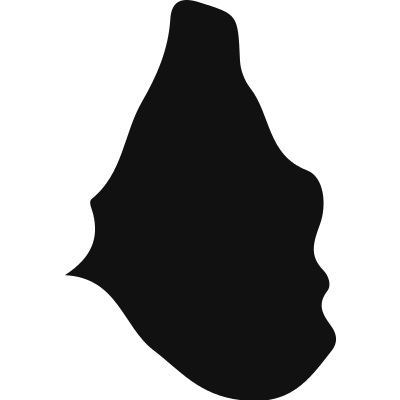 Montserrat country map black shape logo