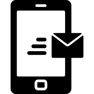 Message from Phone vector logo