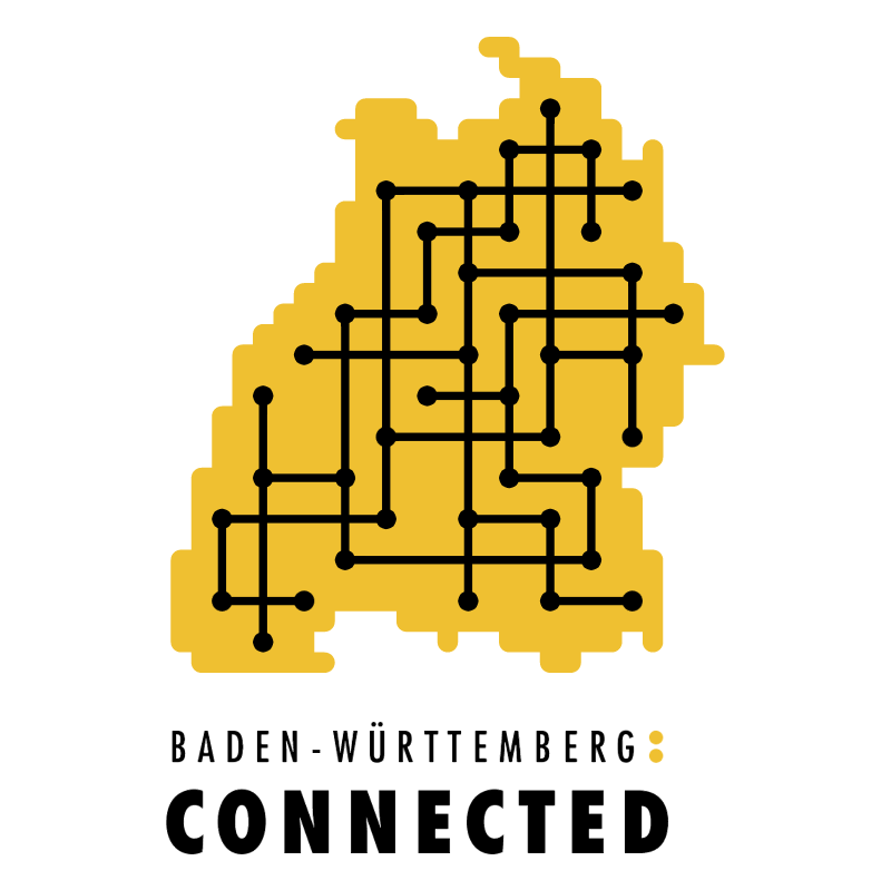 Connected vector logo