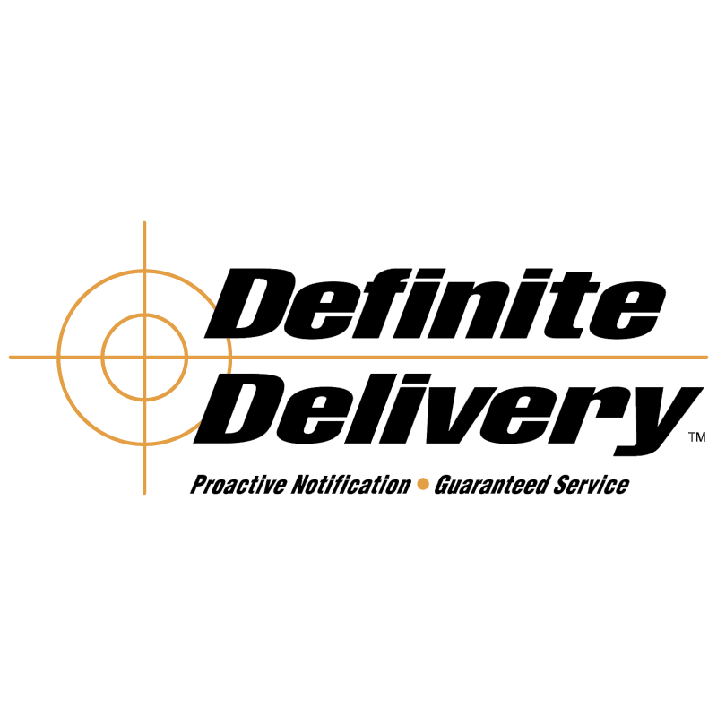 Definite Delivery vector logo