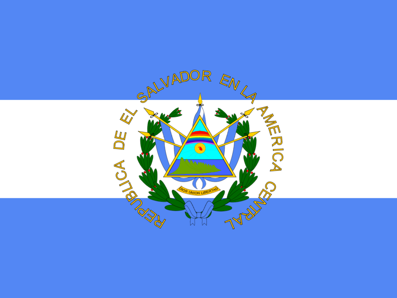 Flag of El Salvador vector