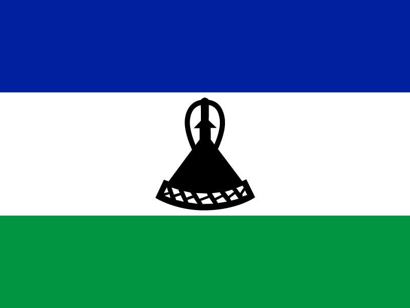 Flag of Lesotho vector
